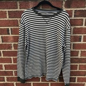 ❌ 2/$15 Old Navy Waffle Weave Green Striped Shirt